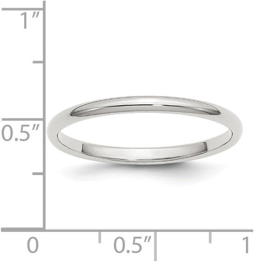 2mm Half-Round Band
