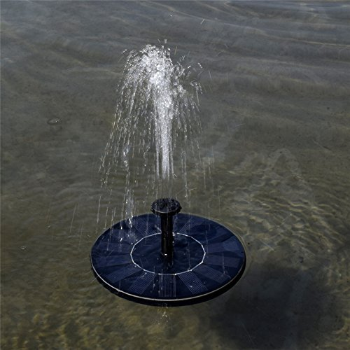 COSSCCI Submersible Solar Powered Water Fountain Pump Kits with Solar Panel Free Standing for Bird Bath Small Pond 1.4W /& Round Shape Fish Tank and Patio Garden Decoration