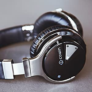 COWIN E7 ACTIVE NOISE CANCELLING BLUETOOTH HEADPHONES WITH MICROPHONE HI-FI DEEP BASS WIRELESS HEADPHONES OVER EAR, COMFORTABLE PROTEIN EARPADS, 30H PLAYTIME FOR TRAVEL WORK TV COMPUTER IPHONE - BLACK RATING: 0 Professional Active Noise Cancelling Technology. Significant noise reduction for travel, work and anywhere in between. Advanced active noise reduction technology quells airplane cabin noise, city traffic or a busy office, makes you focus on what you want to hear,enjoy your music, movies and videos. The noise cancellation function can work well both in wire and wireless mode. Proprietary 40mm Large-aperture Drivers. Deep, accurate bass response. The Active Noise Cancelling around-ear headphones from COWIN give you crisp, powerful sound and quiet that helps you enjoy your music better. The goal that provide Customers with better sound quality, is our constant pursuit. High-quality Built-in Microphone and NFC Technology. COWIN E7 provides high-quality built-in microphone for hands-free calls, Which is convenient for you to free yourself from wires. NFC pairing aided by voice prompts, promises quick and stable connection with your Bluetooth enabled devices, Powerful Bluetooth Function. Amazon.com Price: $149.99 $62.99 (as of 25/04/2018 03:10 PST- Details) & FREE Shipping. Details