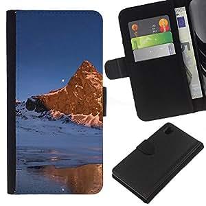 JackGot ( Natura Bella Forrest verde 169 ) Sony Xperia Z1 L39 la tarjeta de Crédito Slots PU Funda de cuero Monedero caso cubierta de piel