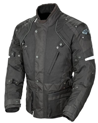 Joe Rocket Ballistic Revolution Men's Textile Sports Bike Motorcycle Jacket - Black/Black/Large