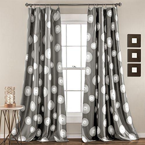 Lush Decor Lush D cor Ovation Window Curtain Panel Set, 84 inch x 52 inch, Gray, 84 x 52