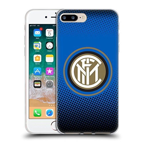 - Official Inter Milan Halftone 2017/18 Crest Soft Gel Case for iPhone 7 Plus/iPhone 8 Plus