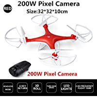 Red Remote Control Drone 200W Pixel HD Camera Kids RC Toys Quadcopter Helicopter Aircraft Toy Kid