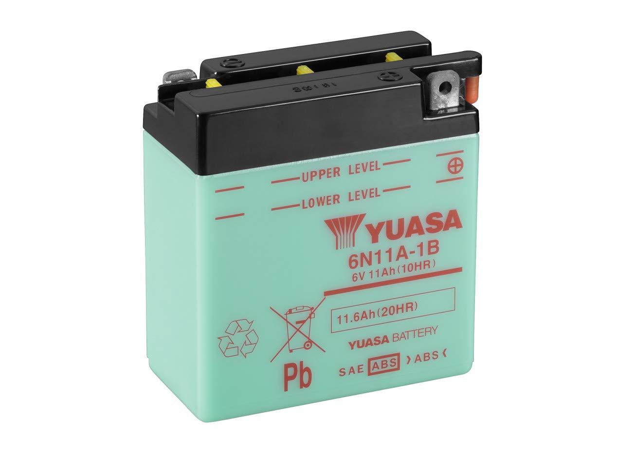 YUASA BATERIA 6N11A-1B abierto sin /ácido