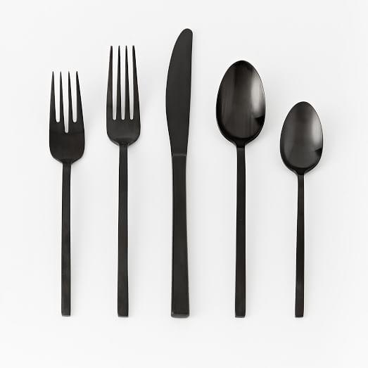Matte Black Flatware Set | west elm