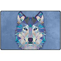 Vantaso Nursery Area Rugs Soft Foam Abstract Wolf Play Mats for Kids Playing Room Living Room Door Mat 60x39 inch