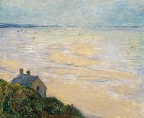Oil Painting 'The Hut In Trouville, Low Tide, 1881 By Claude Monet' Printing On High Quality Polyster Canvas , 8x10 Inch / 20x25 Cm ,the Best Basement Gallery Art And Home Decor And Gifts Is This Cheap But High Quality Art Decorative Art Decorative Canvas (Farm Tractor Deluxe Party Pack)