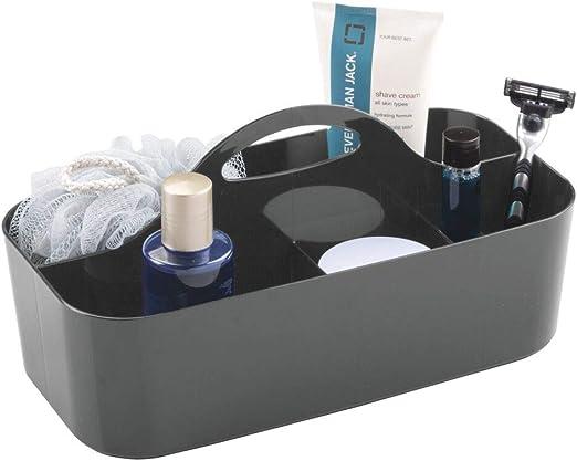 mDesign Caja con asa para la ducha con 6 compartimentos – Caja ...