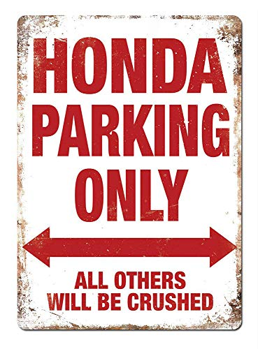 WallDector Honda Parking Only Iron Poster Painting Tin Sign Vintage Wall Decor for Cafe Bar Pub Home Beer Decoration Crafts