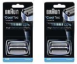 Cheap 40B BRAUN Mens Electric Shaver CoolTec Foil & Cutter Pack Set Head Replacement Cassette, 2 Count