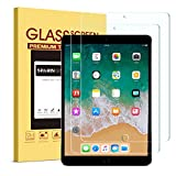 [2 Pack] SPARIN iPad Pro 10.5 Screen Protector - 9H Premium Tempered Glass/Apple Pencil Compatible/Case Friendly/ 2.5D Round Edge/Scratch Resistant for iPad Pro 10.5 Inch (2017)