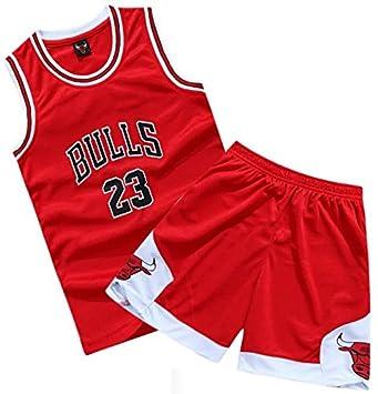 bb2a3ebc78d Youth Chicago Bulls Suit  23 Michael Jordan Kids Basketball Jersey and  Shorts