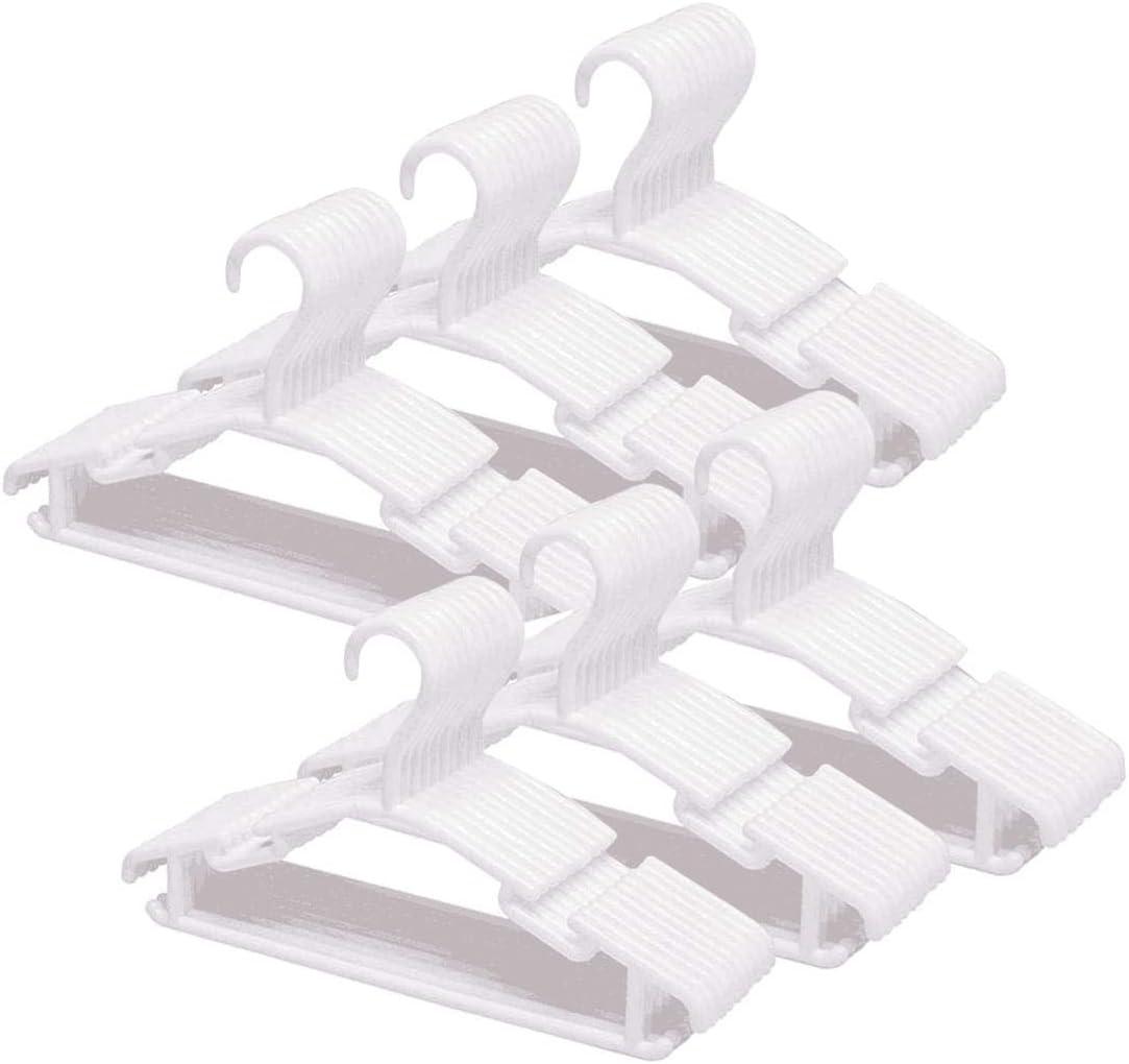 Tebery 60 Unidades Perchas Infantiles De Plástico para Niños Bebé, Blanco