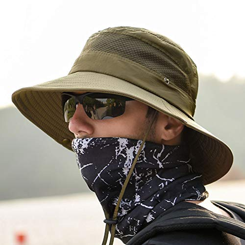 anaoo Chapeau Homme, Chapeau de Soleil, Chapeau Eté Pliable, Casquettes Visières Anti-UV, Séchage Rapide et Protection… 5