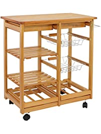 SUPER DEAL Rolling Kitchen Storage Cart ...