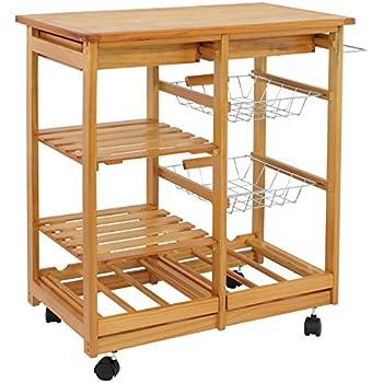 Winsome Wood Finland Kitchen Cart Alaska