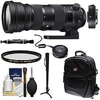 Sigma 150-600mm f/5.0-6.3 Sports DG OS HSM Zoom Lens & 1.4x Teleconverter (for Nikon) with USB Dock + Backpack + Monopod + Kit