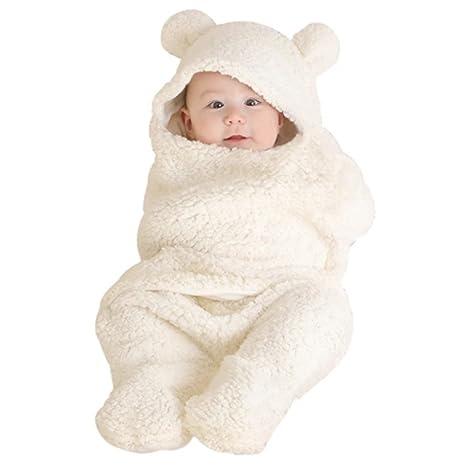 Woopower - Saco de dormir para bebés de 0 a 12 meses, cálido terciopelo,