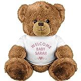 Welcome Baby Girl Sarai With Heart: Medium Plush Teddy Bear