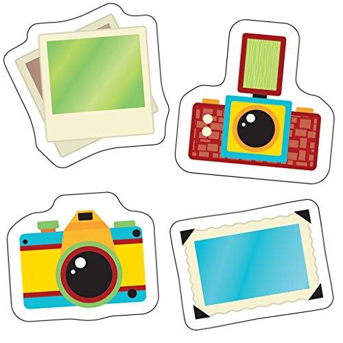 Carson Dellosa Hipster Cameras and Photos Mini Cut-Outs (120217)