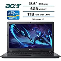 2018 Newest Flagship Acer Aspire 3 Laptop 15.6 inch HD Display, Intel Core i5-7200U 2.5 GHz, 6 GB DDR4 SDRAM Memory, 1 TB Hard Disk Drive, Intel HD Graphics 620, Windows 10