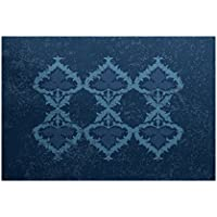 E by design RGN731BL44-35 Ananda, Geometric Print Indoor/Outdoor Rug, , 3 x 5, Blue