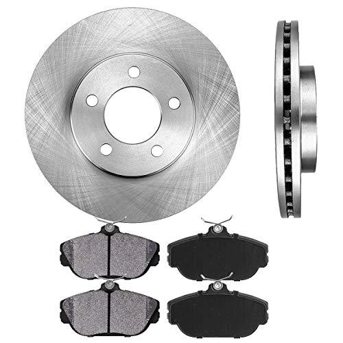 FRONT 276 mm Premium OE 5 Lug [2] Brake Disc Rotors + [4] Metallic Brake Pads