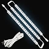 LED Concepts Under Cabinet & Closet Linkable LED Light Bars -ETL Listed Power Supply (12'' Inch -3PK, White)