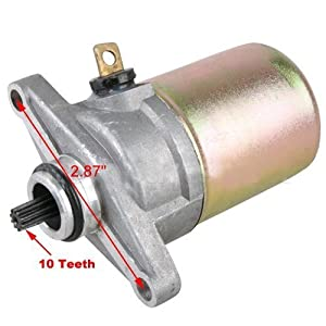 10 Teeth Electric Starter Motor for GY6 50cc Scooter Moped Parts