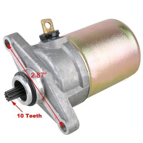 10 Teeth Electric Starter Motor for GY6 50cc Scooter Moped (Tooth Starter Motor)