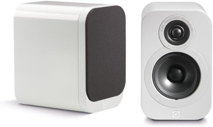 Q Acoustics 3010 17W Blanco Altavoz - Altavoces (De 2 vías, 2.0 Canales, Alámbrico, 17 W, 68-22000 Hz, Blanco)