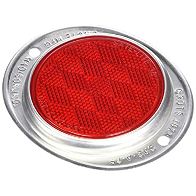 Grote 40232-5 Red Aluminum Two-Hole Mounting Reflector: Automotive