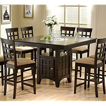 Height Of Dining Room Table imposing dining room light height 6 Coaster Hyde Counter Height Square Dining Table With Storage Base In Cappuccinotable Only