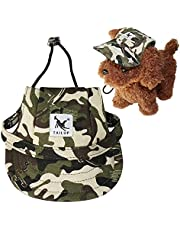payanwin Dog Hat Pet Baseball Cap Dogs Sport Hat Visor Cap with Ear Holes and Chin Strap for Dogs and Cats 3 Sizes 4 Colors (Camouflage, Large)