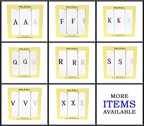 wren song handkerchief - ladies white handkerchief with monogram 3 pack  m