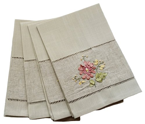 Xia Home Fashions Embroidery Hemstitch