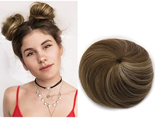 Fake Hair Buns Extensions Clip in Donut Chignon