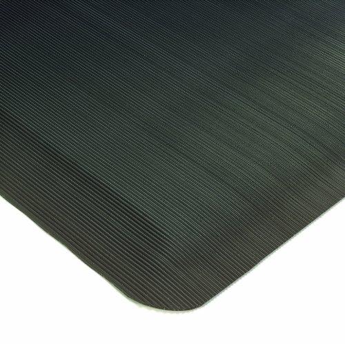 (Wearwell PVC 431 SpongeCote Medium Duty Anti-Fatigue Beveled Mat, Corrugated, for Dry Areas, 2' Width x 3' Length x 1/2