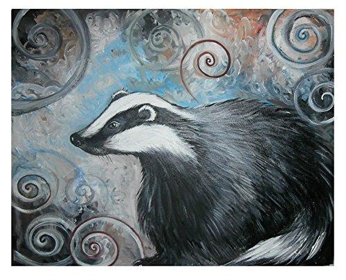 Spiral Badger signed Ltd ed Art Print A4 - Limited Ed Hand Signed