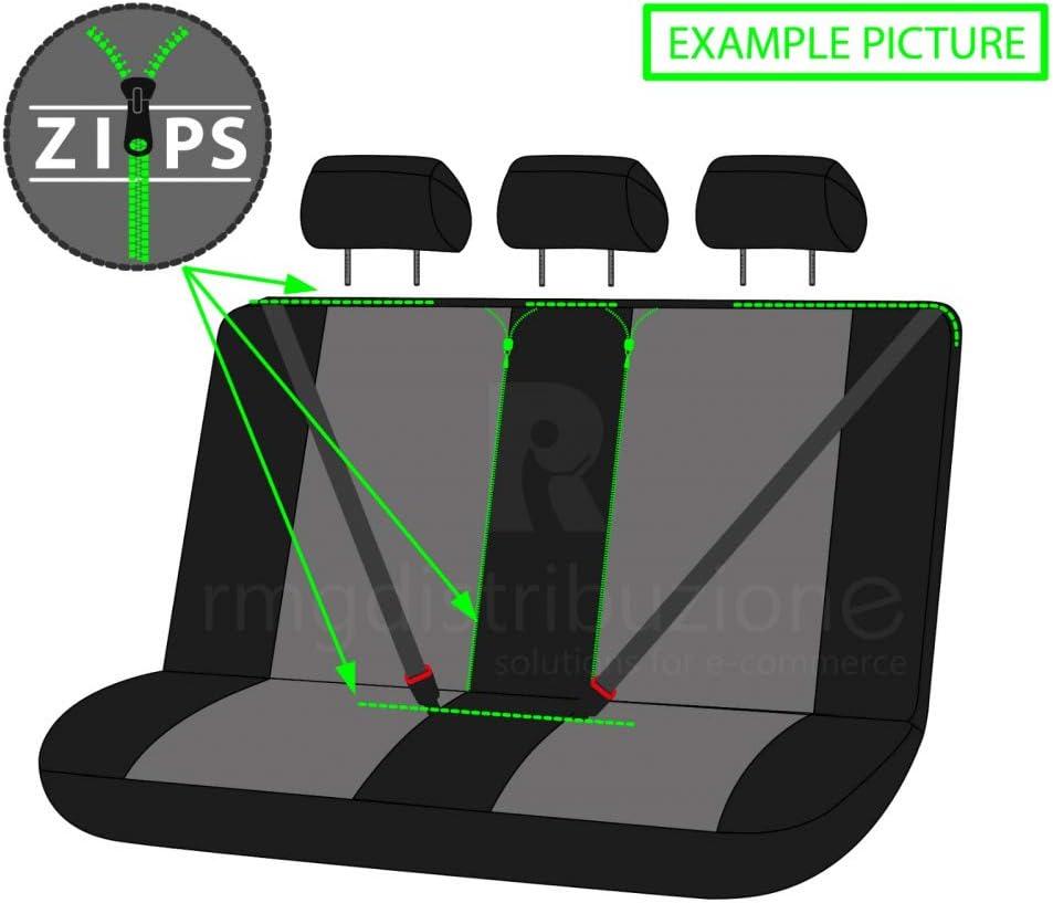 rmg-distribuzione Housses de si/ège pour AMAROK Version si/èges arri/ère s/éparables R01S0895 2010-2012 accoudoirs lat/éraux Compatible avec Les si/èges avec airbags