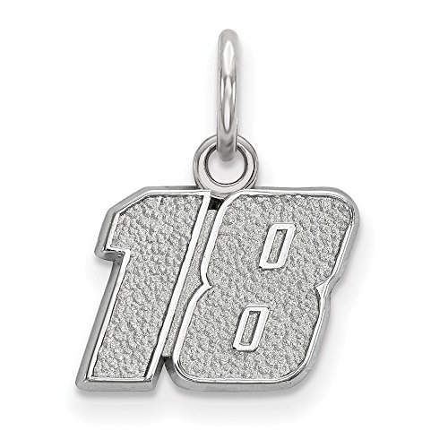 Nascar Charm - Roy Rose Jewelry Sterling Silver LogoArt 1/2'' ~ # 18 NASCAR Charm