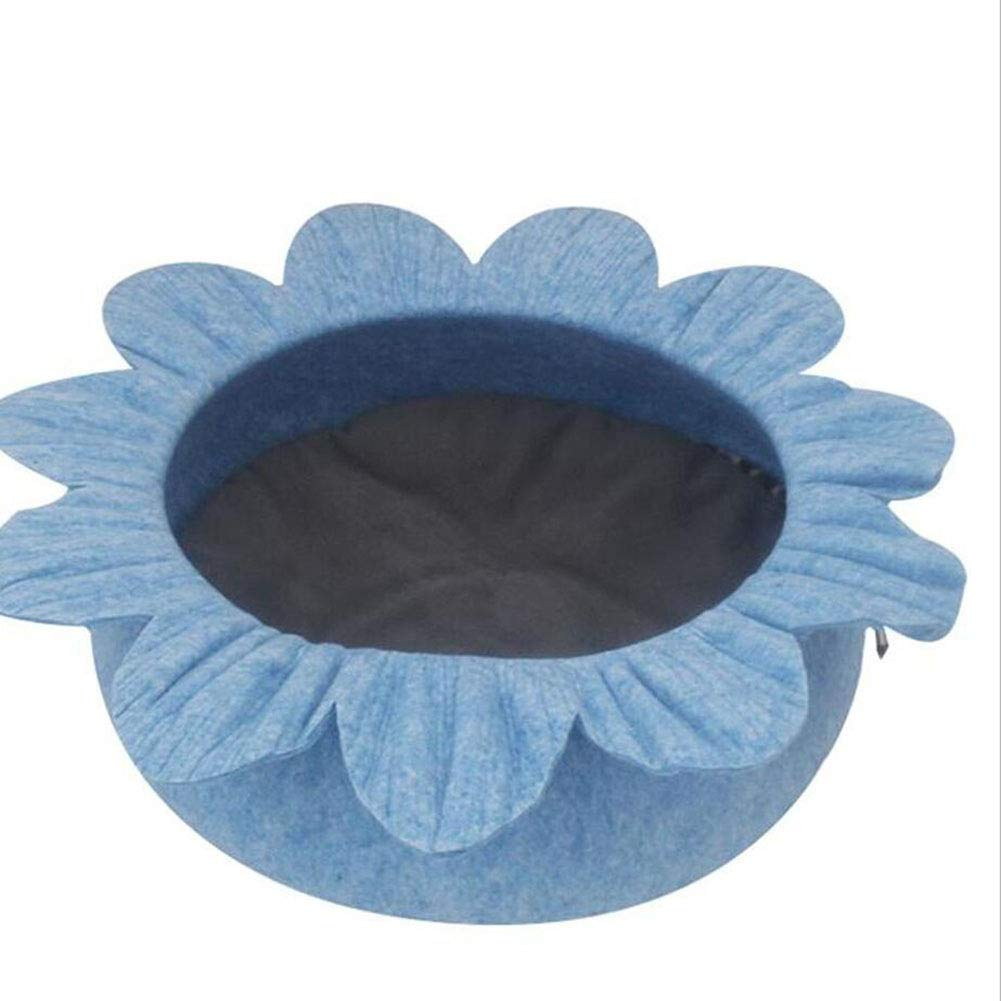 bluee H.ZHOU Dogs and Cats Bed Liners & Mats Cat Nest All Seasons Cat Bed Felt House Pet Nest Dog Nest (color   BROWN)