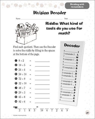 Math Worksheets 3rd grade free math worksheets : Amazon.com: Scholastic Success With: Math Workbook: Grade 4 ...