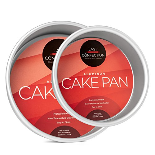 Last Confection 2-Piece Round Cake Pan Set - Includes 6 inch and 9 inch Aluminum Pans - 2 inch Deep