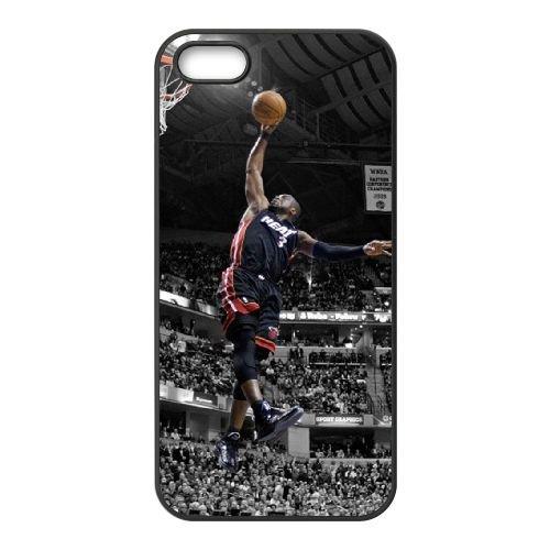 Dwyane Wade coque iPhone 4 4S cellulaire cas coque de téléphone cas téléphone cellulaire noir couvercle EEEXLKNBC24747