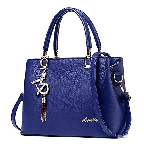 Womens Purses and Handbags Shoulder Bags Ladies Designer Top Handle Satchel Tote Bag - Purse Blue