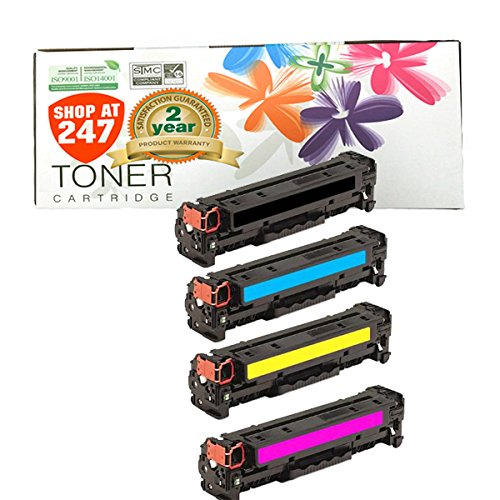 INK E-SALE Replacement for 128A CE320A CE321A CE322A CE323A Canon 116 Toner Cartridge for use with Color Laserjet CP1525n CP1525nw CM1415fn CM1415fnw, Canon MF8080cw Printer, 4 - Black Ink 2200 Cartridge Light