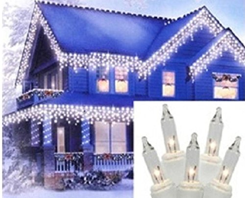 y Clear Icicle Christmas Lights 3
