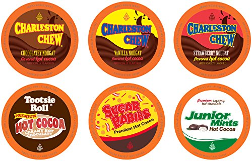 Tootsie Roll Candy Flavored Hot Cocoa Variety Pack for Keurig K-Cup Brewers, 40 Count